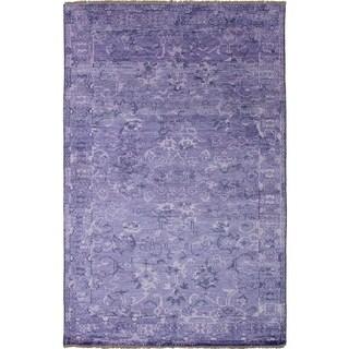 eCarpetGallery Hand-knotted Jules Ushak Purple Rug - 5'0 x 7'9