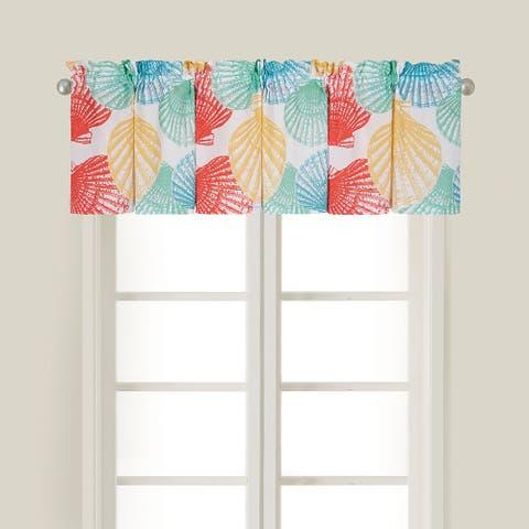 Lucia Island Cotton Window Curtain Valance Set 2 - 15.5 x 72