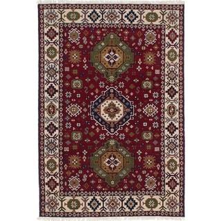 eCarpetGallery  Hand-knotted Royal Kazak Dark Red Wool Rug - 5'3 x 7'8