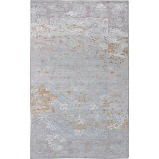 eCarpetGallery Hand-knotted Jules Ushak Grey Rug - 4'11 x 7'10