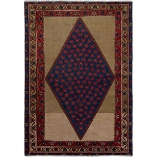 eCarpetGallery  Hand-knotted Persian Vintage Navy Blue Wool Rug - 4'3 x 6'1