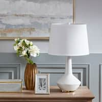 Madison Park Asheville White Ceramic Table Lamp