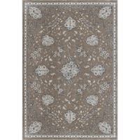 KAS Montecarlo IV Champagne Floral Bouquets Rug - 3'3 x 4'7