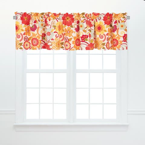 Naomi Window Curtain Valance Set 2 - 15.5 x 72