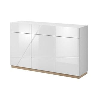 Futura Two-tone White Gloss and Oak Riviera Sideboard