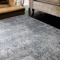 Westfield Home Penelope Gabor Turquoise Area Rug - 7'10 x 10'6