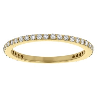 14K Yellow Gold 1/4ct TDW Diamond Stackable Anniversary Band (SI2-I1, H-I)