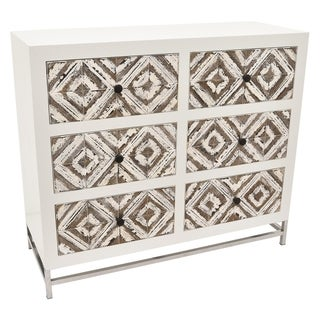 Three Hands Champagne Wood/Metal Cabinet