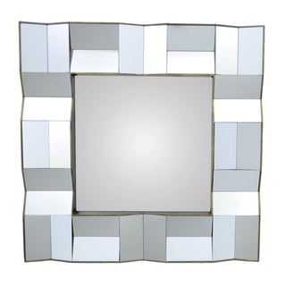 Three Hands Mirror With Wood Frame