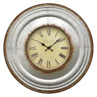 Three Hands Metal Wall Clock