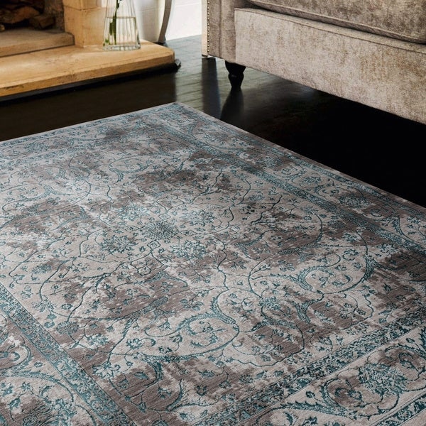 """Copper Grove Amvrosivka Turquoise Accent Rug - 1'7"""" x 3' - 1'7"""" x 3'"""