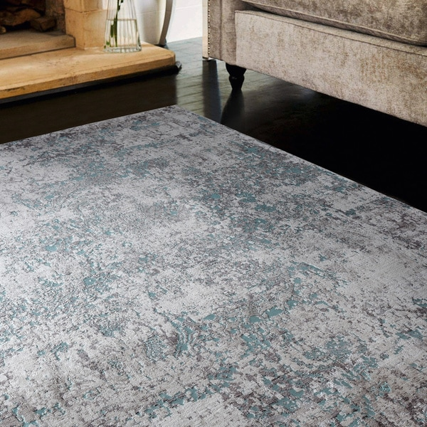 Copper Grove Ladyzhyn Turquoise Area Rug - 10'6 x 14'1 - 10'6 x 14'1