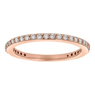 14K Rose Gold 1/4ct TDW Diamond Stackable Anniversary Band (SI2-I1, H-I)