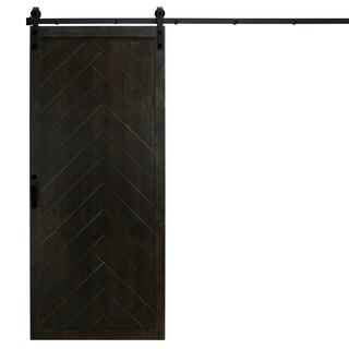 "Herringbone Sliding Barn Door With Hardware (36"" x 84"")"