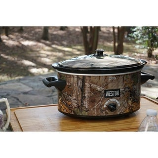 Realtree 5 Qt Slow Cooker with Lid Latch Strap