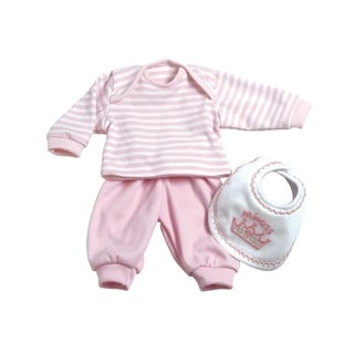 Adora 3 Pc. Layette Set - Pink