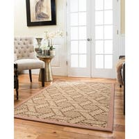 NaturalAreaRugs Carrington Chunky Sisal Rug Extra Wide Binding 2'x3'