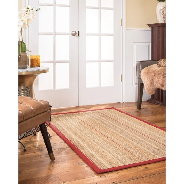 Naturalarearugs Resort Sisal Area Rug Red Border