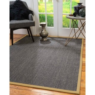 NaturalAreaRugs Shadows Custom Sisal Rug 4' x 12' Sage Border