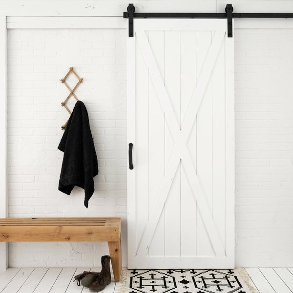 "Classic X Sliding Barn Door With Hardware (36"" x 84"")"