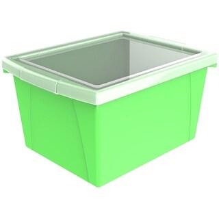 Storex 4 Gallon (15L) Classroom Storage Bin with Lid, 6-Pack