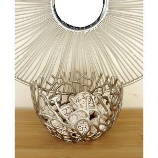Silver Orchid Miller Aluminum Pedestal Bowls (Set of 2)