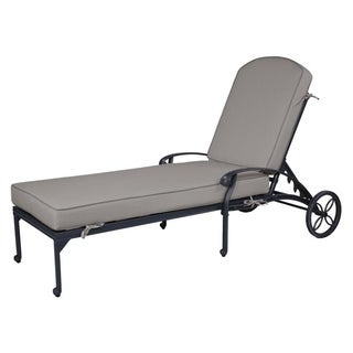 Havenside Home Saybrook Aluminum Single Chaise Lounger with Cushion (Cast Shale)