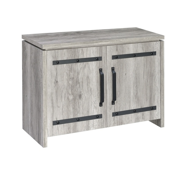 The Gray Barn Madigan Grey Wooden Accent Cabinet