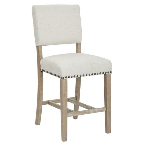 Carson Fabricated Counter Stool with Metal Nailheads