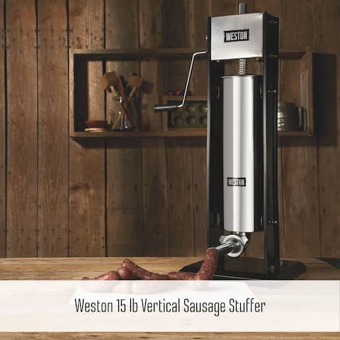 Weston Vertical Sausage Stuffer - 15 lb Capacity, Two-Speed
