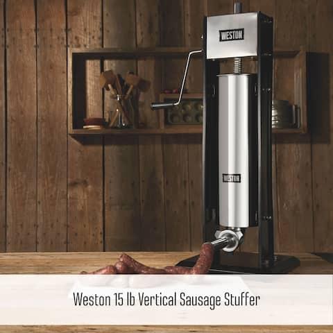 Weston Vertical Sausage Stuffer - 15 lb Capacity, Two-Speed