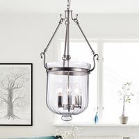Tobias Nickel 3-Light Pendant with Clear Glass Shade