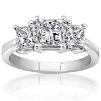 Annello by Kobelli 14k White Gold 2ct TDW Princess Cut Diamond Ring