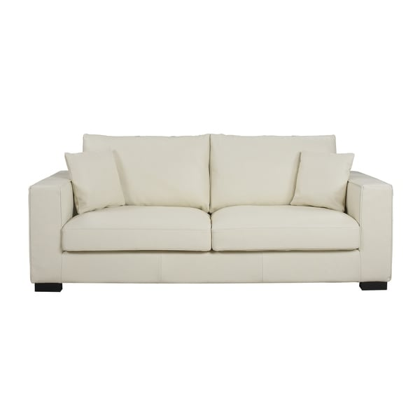 Modern Real Leather Sofa Deep Seat