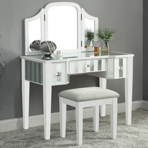 Furniture of America Inno Glam 3-piece Vanity Set with Mirror
