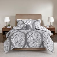 510 Design Rozelle Grey 5 Piece Reversible Print Comforter Set