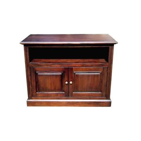 Offex Solid Kiln Dried Mahogany Woodbury TV Stand