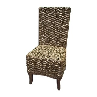 Offex Hand Woven Mahogany Seagrass Casual Dining Chair