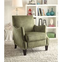 Sinai Accent Chair In An Elegant Texture, Olive Green