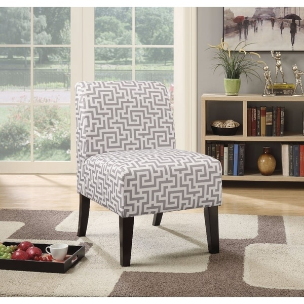 Shop Ollano Accent Chair Pattern Fabric Gray Amp White