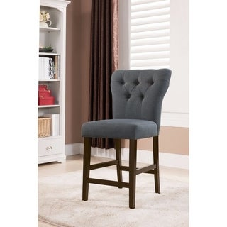 Effie Counter Height Chair Gray, Set of 2