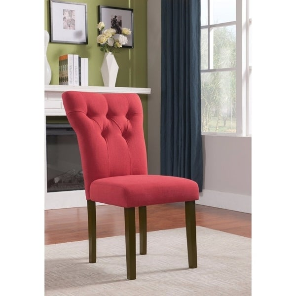 Effie Side Chair, Red, Set of 2 (As Is Item). Opens flyout.