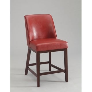 Valor Counter Height Chair, Red & Espresso, Set-2