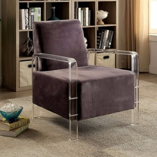 Stylish Contemporary Flannelette Fabric Accent Chair, Gray