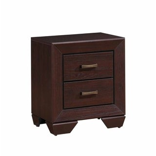 Chic Side Nightstand, Dark Cocoa Brown