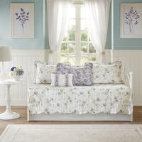 Madison Park Cordelia Ivory/Purple 6 Piece Reversible Daybed Set