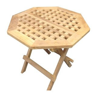 Offex Natural Teakwood Octagonal Outdoor Picnic Table