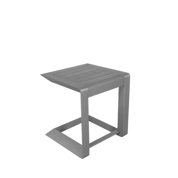 Sleekly Cultivated Contemporary Aluminum Side Table, Silver