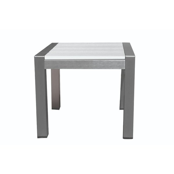Versatile And Functional Easy-Movable Outdoor Side Table, White