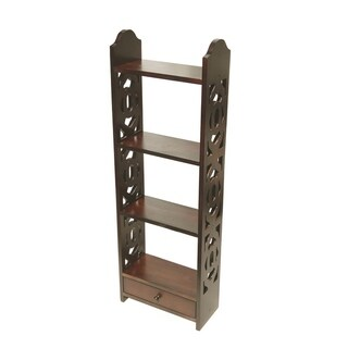 Offex Handcrafted Solid Kiln Dried Mahogany Carnation Wall Rack